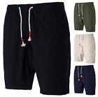 Mens Casual Short Drawstrings Sweat-Pants Military Army Cargo Shorts Sports