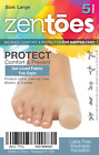ZenToes 5 Pack Toe Caps Closed Fabric Gel Sleeve Protectors Corns Missing Nails