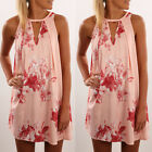 New Fashion Women's Floral Sleeveless Bodycon Party Evening Summer Mini dress