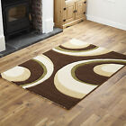 X LARGE SMALL RUNNER RUG QUALITY CHOCOLATE GREEN MODERN WAVE RUG MAT CHEAP COST