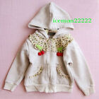Girls Hooded Zip Jacket GreySZ:5/90~15/140,AGE:1~6(c25)