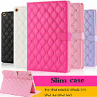 Luxury Hard Smart Wake Leather Case Stand Cover For iPad Mini 1/2/3 2/3/4 Air 2