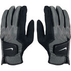 New Men's Nike All Weather Golf Gloves Black Grey (GG0411-001)  Size Small