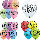 Musik Themen: Musiknoten, Disco, Rock & Roll Bedruckt Qualatex Latex Ballons