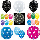Star Printed Qualatex Latex Party Balloons (Helium/Air) - Quick Link, Glitter