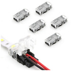 6 × 2/4pin LED Connector Connect Wire for 10mm 5050 RGB Waterproof LED Strip