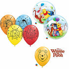 DISNEY WINNIE PUUH Qualatex Latex & Blase Luftballons (Kinder Geburtstag/Party)