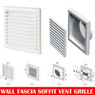 "White Extractor Fan Wall Fixed Louvre Grill Grille  Ventilation 4"" , 5"" , 6"""