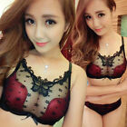 Womens Thick Padded Lace Underwire Underwear Lingerie Push Up Bra Set