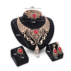 Fashion Women's Earrings Necklace Set Crystal Wedding Party Gold Plated Jewelry