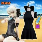 FGO  Fate stay night Saber Black Swimsuit  Arturia Pendragon  Cosplay Costume