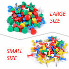 Large Small Size Push Pins Assorted Colours Plastic Notice Cork Pin Board Craft