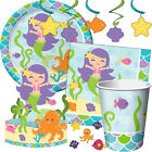 MERMAID FRIENDS Birthday Party Range - Under The Sea Tableware & Decorations