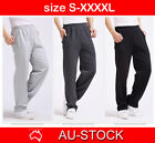 Mens Track Pants Gym Trousers Tracksuit Sport Jogger Training Workout King Size