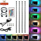 4pcs USB Mood Light RGB Multi Color LED Strip Light TV Backlight Remote Contral