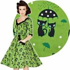 Voodoo Vixen Katnis Dress 50's Vintage Rockabilly Pin Up Retro Kitty Kitsch