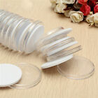 20-60PCS 46mm Coin Cases Capsules Holder Applied Clear Plastic Round Storage Box