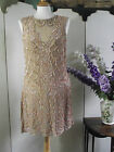 A STAR IS BORN MESH CARAMEL BEAD CREAM SHORT DRESS SIZE 8 10 12 14 16 18 BNWT X