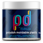 Polydoh moldable plastic 16oz WHITE & BLACK (like polymorph plastimake friendly) image