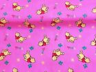 NEW! Vintage PolyCotton Fabric WINNIE THE POO Pink Nursery Baby Reduced Price