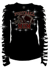 bling football - Bling Bling FootBall Mom helmet & Ball RHINESTONE Shirt Ripped Slit Cut Out S~3X