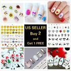 Nail Art Stickers Water Decals Cartoon Mickey Donald Emoji Christmas Halloween