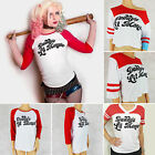 Harley Quinn Suicide Squad T-shirt Halloween Cosplay Costume Womens Tops Tee