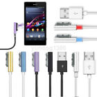 Внешний вид - New 1M LED Magnetic Aluminum Metal USB Charger Cable For Sony XPERIA Z1 Z2 Z3 US