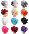 Elastic Women Ladies Flower Hat Turban Chemo Cancer Hair Loss Cap Head Wrap