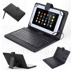 """Hot 7""""-8"""" Android Tablet Universal USB Micro Keyboard Flip PU Leather Case Cover"""