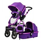 Pop Baby Stroller High View Pushchair Outdoor Comfort Buggy Sleeping Basket Pram