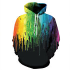Fashion Winter hoodies colorful Printed Pullover Pocket sport hoodies S-3XL 131