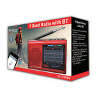 Supersonic SC-1080BT 9-Band Radio w/Bluetooth/USB/MicroSD-In
