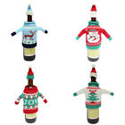 New Design Wine Bottle Cover Sweater Hat Gift Bag Christmas Xmas Tree Bar Decor