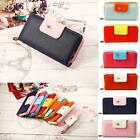 Fashion Women Clutch buckle Soft Leather Wallet Lady PU Long Card Purse Handbag
