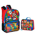 Super Mario Brothers Backpack with Insulated Lunchbox