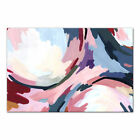 Ebern Designs 'Pink Radial Water Abstract' Acrylic Painting Print on Canvas