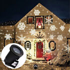 Snowflake Moving Sparkling Landscape LED Laser Projector Wall Party Light Xmas D