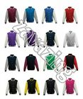VARSITY BASEBALL SWEATER JACKET COLLEGE STYLE 16 COLOURS XS - 3XL LEAVERS COLOUR
