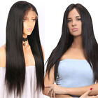 Remy Virgin Full Lace Front Lace Human Hair Wig Natural Black Straight Body Wavy
