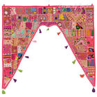"""40"""" Pink Window Valance Topper Wall Hanging Tapestry Bohemian Indian Boho Decora"""