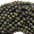 "Dragon Blood Jasper Round Beads Gemstone 15.5"" Strand 4mm 6mm 8mm 10mm 12mm"