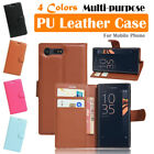 Sony Xperia X Compact / X Mini Leather Case PSC Cover Wallet Card Pouch Stand