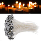 100Pcs DIY Candle Wick Core Pre Waxed With Sustainers Cotton Coreless 15/12CM