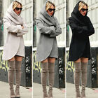 US Women's Hooded Wool Woolen Jacket Parka Long Coat Ladies Winter Warm Overcoat