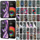 For LG X Power/ K6 K6P/ K450 US610 LS755 Black Clear Bumper TPU Back Case Cover