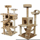 US Cat Tree Tower Condo Furniture Scratch Post Kitty Pet House Play Beige Paws K