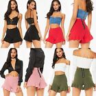Ladies Girls Layered Ruffled Frill Skorts High Waisted Mini Skirt Zipped Shorts