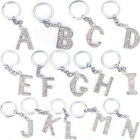 Bling Crystal Sparkly Alphabet Keyring Initial Letter Key Ring Chain Keychain OZ
