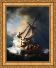 """Rembrandt The Storm on the Sea of Galilee Framed Canvas Print 27""""x33"""" (V18-05)"""